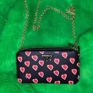 Prada Heart saffiano leather bag